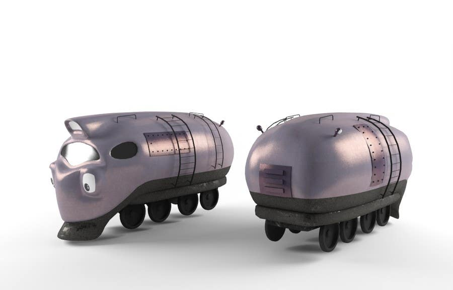 #5 for 3D-model of a quirky locomotive by GCKdsgn