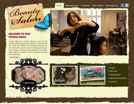 #8 for Design Vintage look for website Beauty Salon by niladrilx