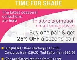 siddhiair tarafından Single side Leaflet for Sunglasses Shop, quick job... için no 2
