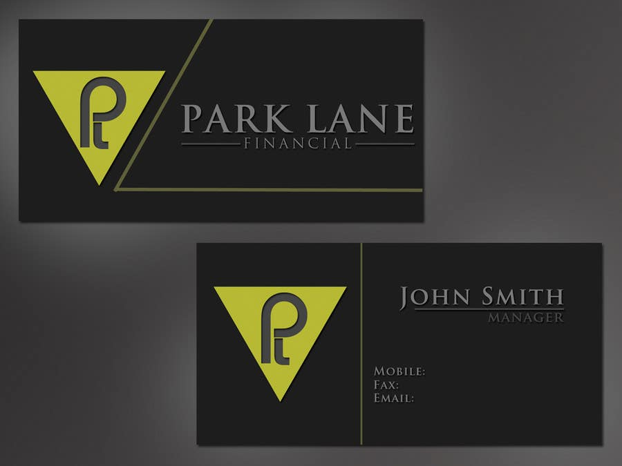 #16 for Business Card Design for Park Lane Financial by h4hardip