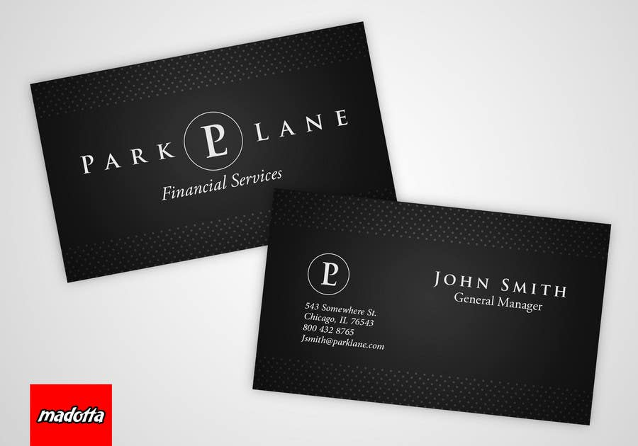 Contest Entry #                                        11                                      for                                         Business Card Design for Park Lane Financial