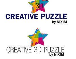 donmute tarafından Logo Design for: creative 3D puzzle by NiXiM için no 43