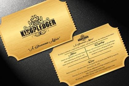reshmihalder tarafından Golden ticket wedding invitation için no 15