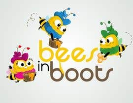 #64 для Bees in Boots Logo Design от STrangethoughts