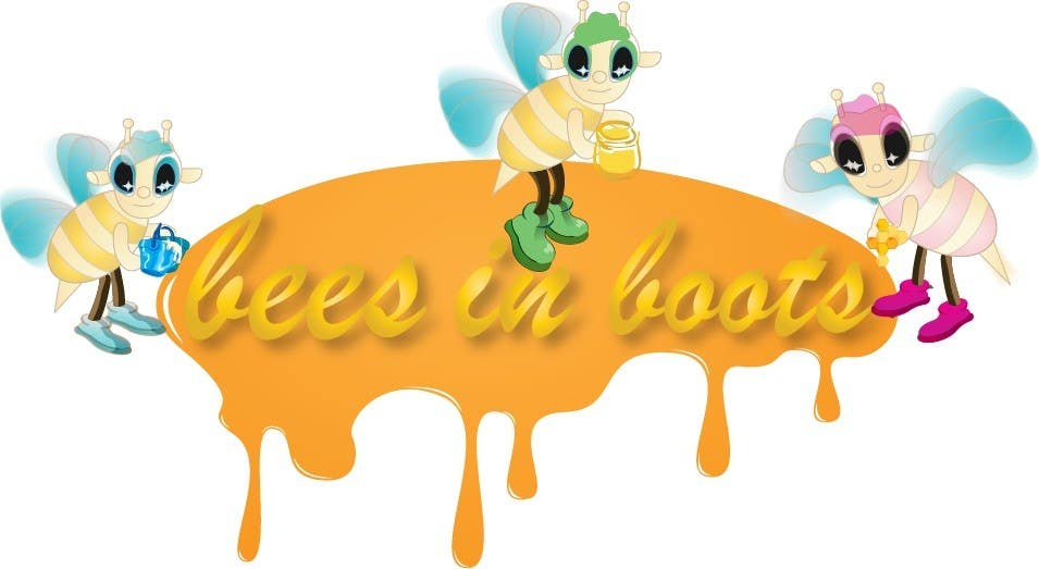 Contest Entry #48 for Bees in Boots Logo Design
