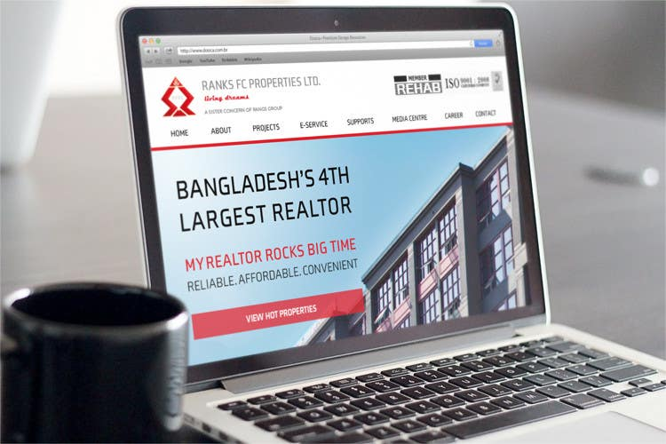 #7 for Design a Website Mockup for realestate site by freeoutsourcer