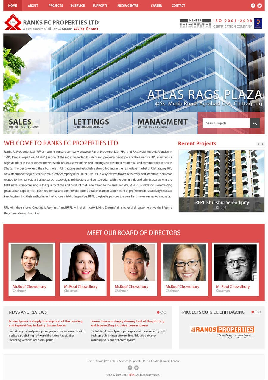 #12 for Design a Website Mockup for realestate site by GemIT