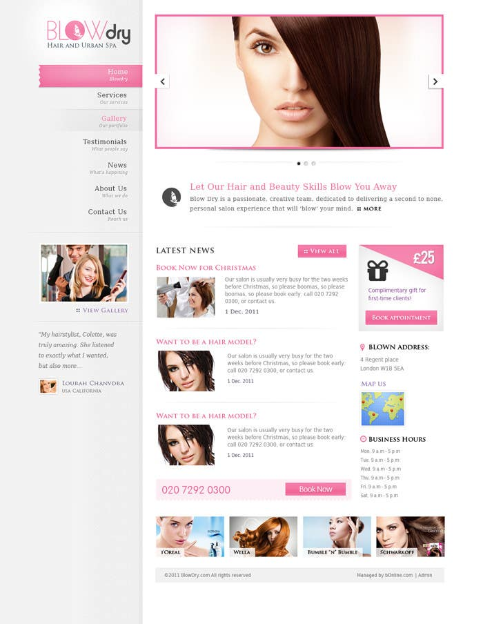 #34 for Design a Website Mockup for beauty site by online3