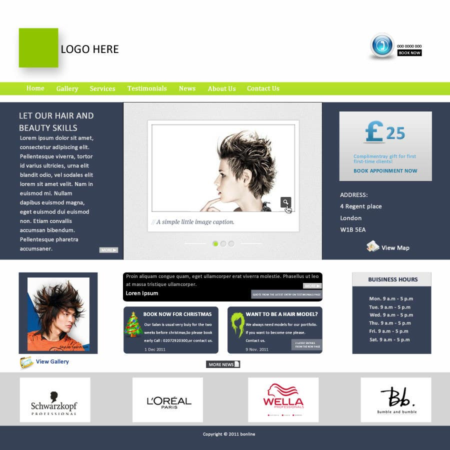 #38 for Design a Website Mockup for beauty site by online3