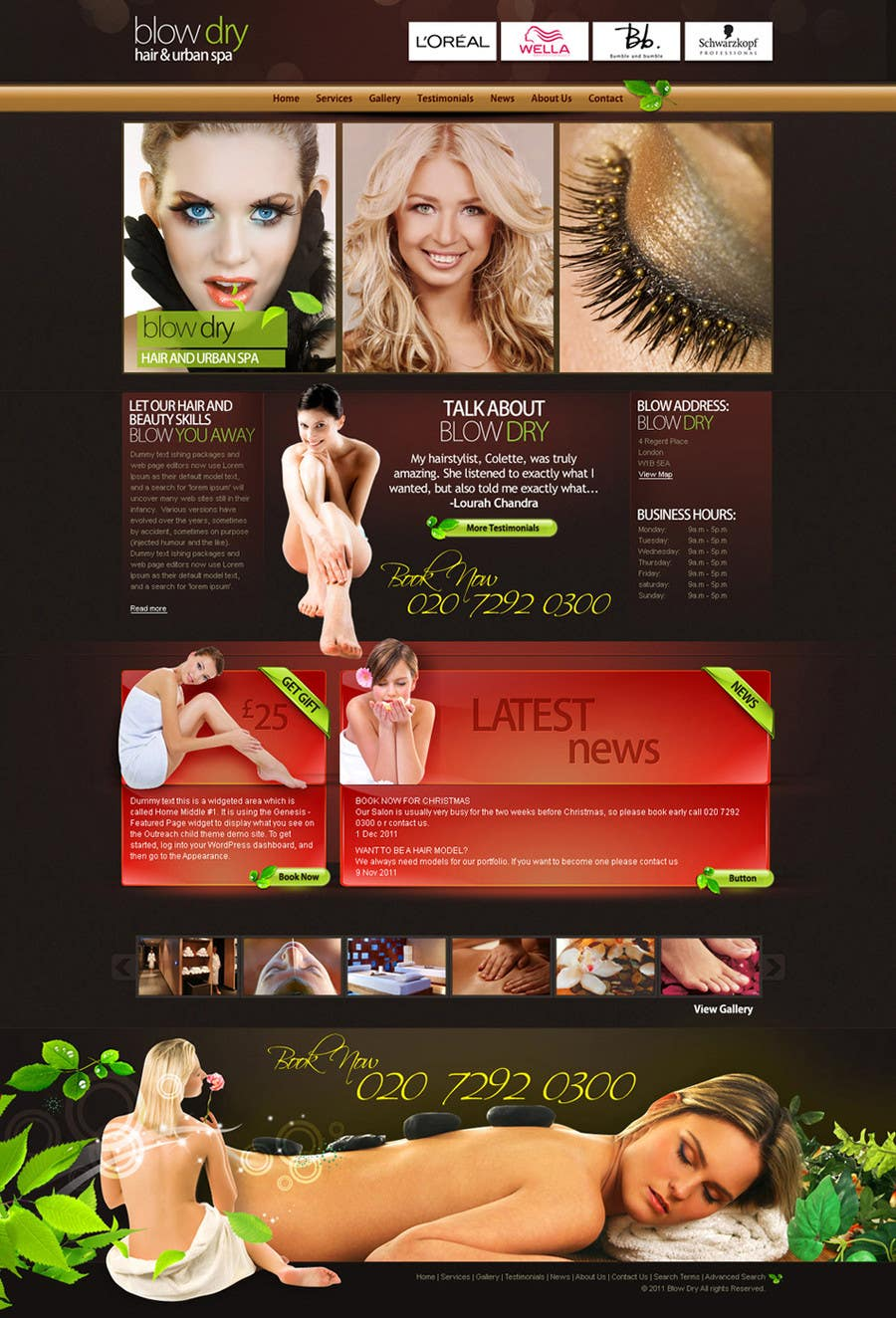 #42 for Design a Website Mockup for beauty site by online3