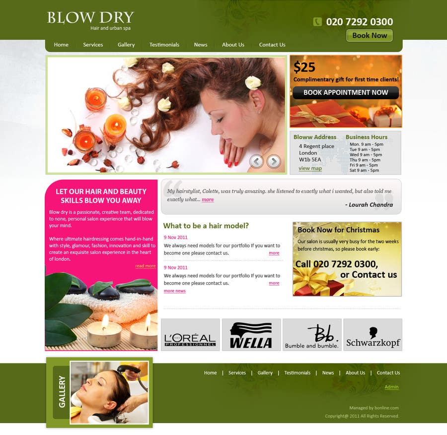 #51 for Design a Website Mockup for beauty site by online3