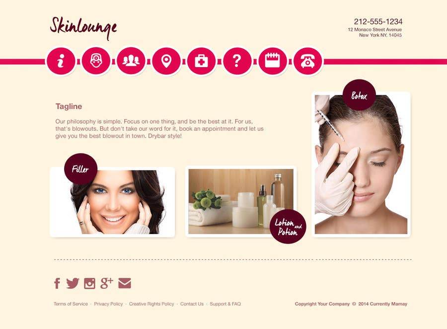 #5 for Design a Website Mockup for beauty spa site by dikigunawan