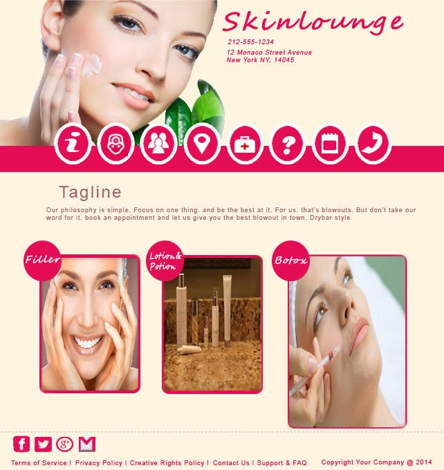 #10 for Design a Website Mockup for beauty spa site by rashidaliansari