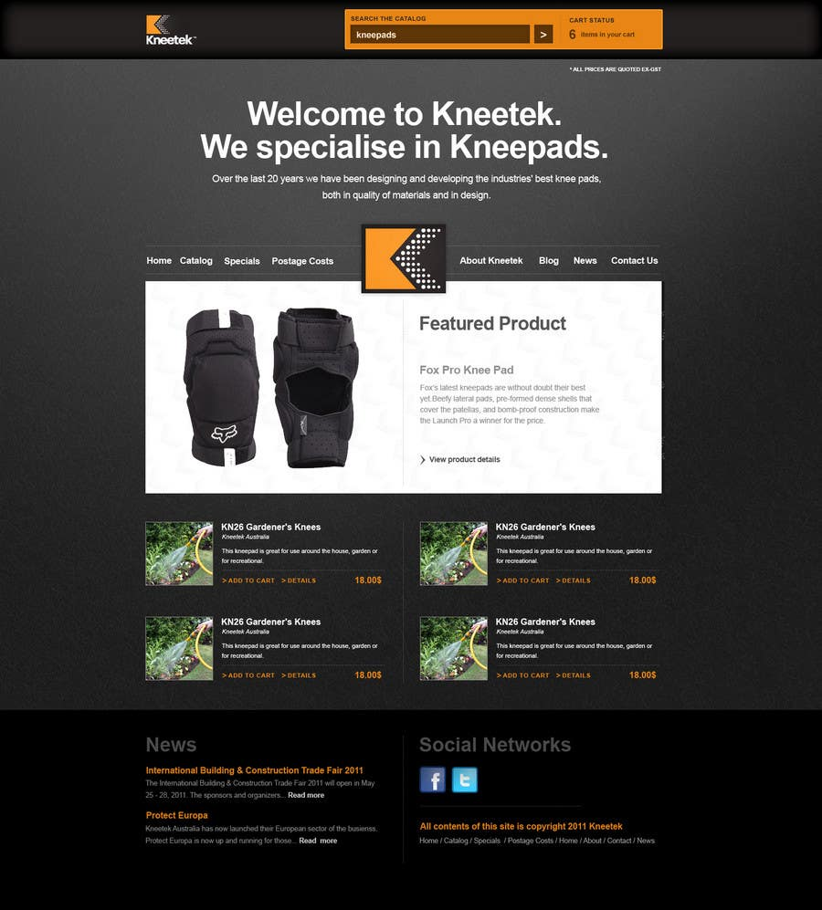 Entri Kontes #54 untukWebsite Design for KNEETEK.NET