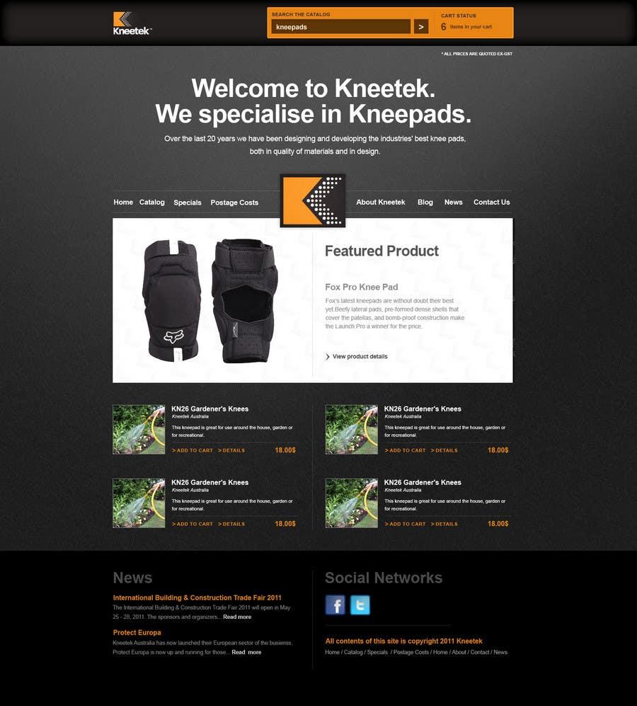 Συμμετοχή Διαγωνισμού #54 για Website Design for KNEETEK.NET