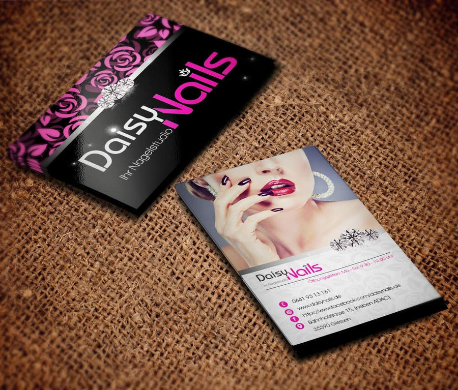 #33 for Design some Business Cards for Nails Studio by RERTHUSI