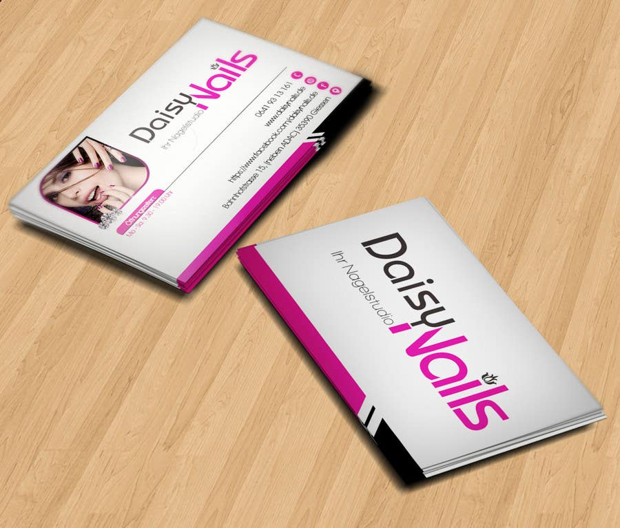 #68 for Design some Business Cards for Nails Studio by RERTHUSI