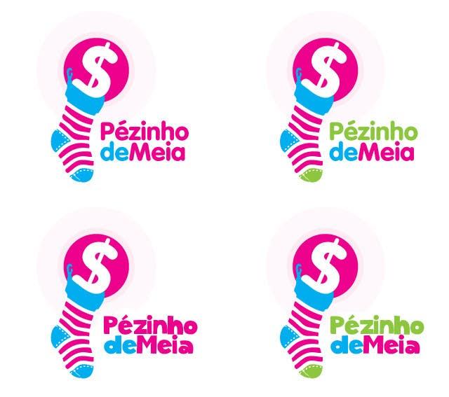 Entri Kontes #195 untukLogo Design for Pezinho de Meia (Baby Socks in portuguese)