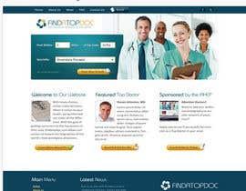 Nro 13 kilpailuun Doctor search website responsive mockup käyttäjältä neha003