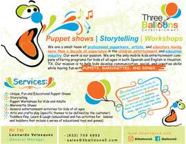 satishchand75 tarafından Design a Flyer for Puppet Show and Entertainment Company için no 1