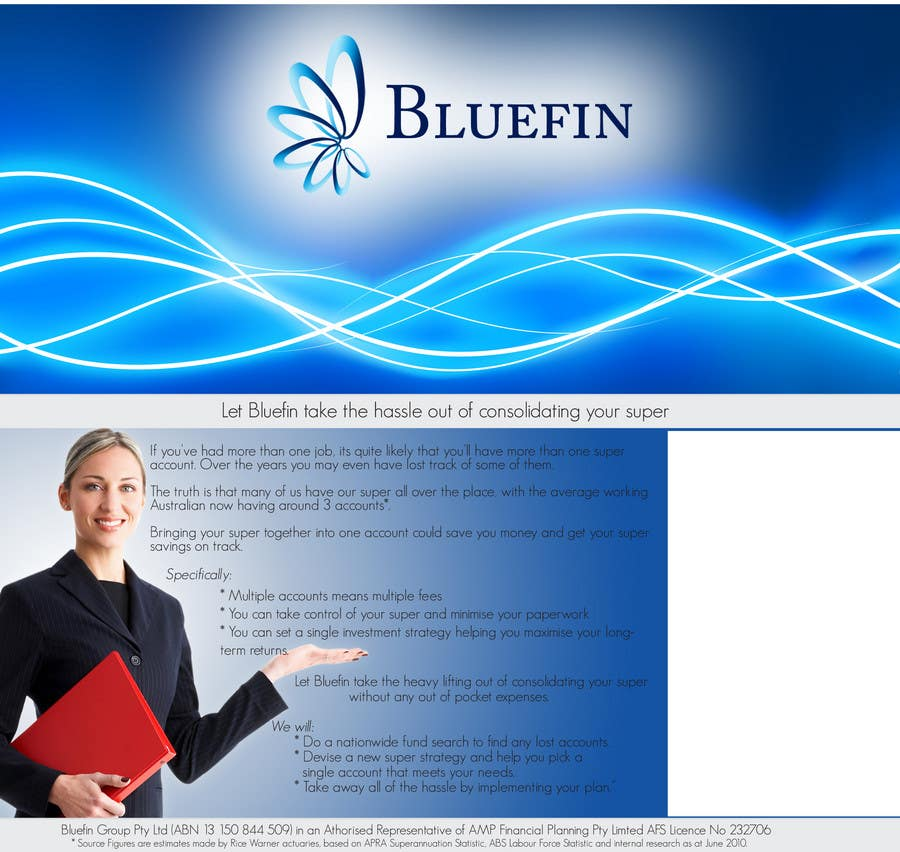 Contest Entry #                                        6                                      for                                         Flyer Design for Bluefin