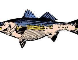 moilyp tarafından Illustrate 3 species of fish to be used for embroidery için no 4