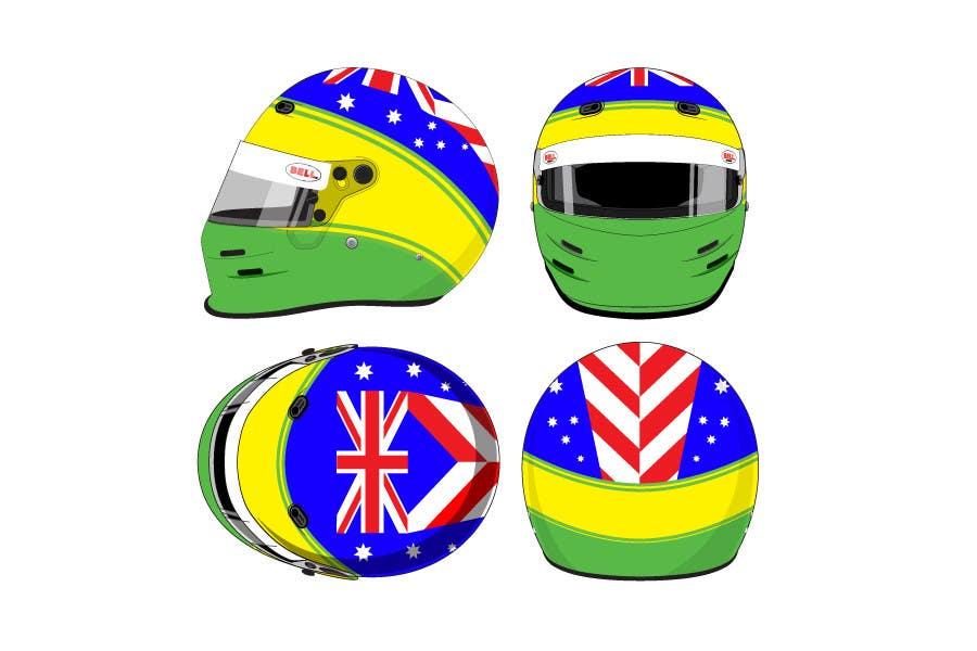 Bài tham dự cuộc thi #                                        40                                      cho                                         Racing Helmet design for 9 year old boy.