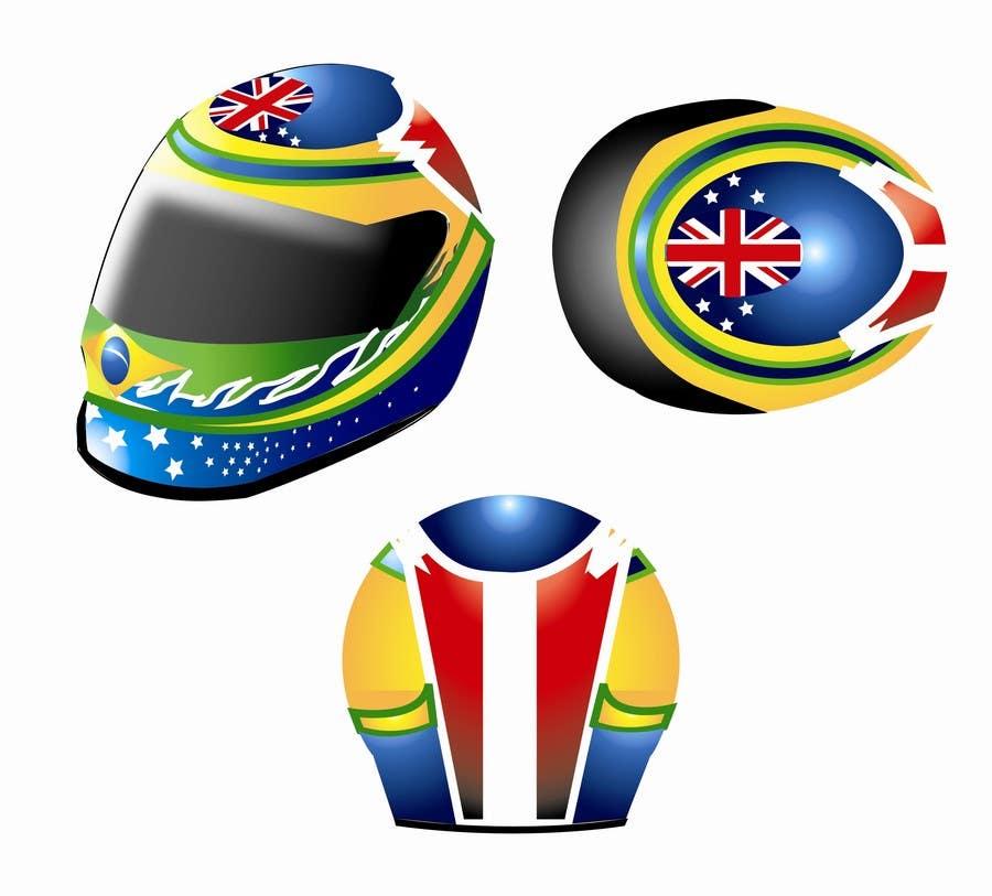 Bài tham dự cuộc thi #13 cho Racing Helmet design for 9 year old boy.