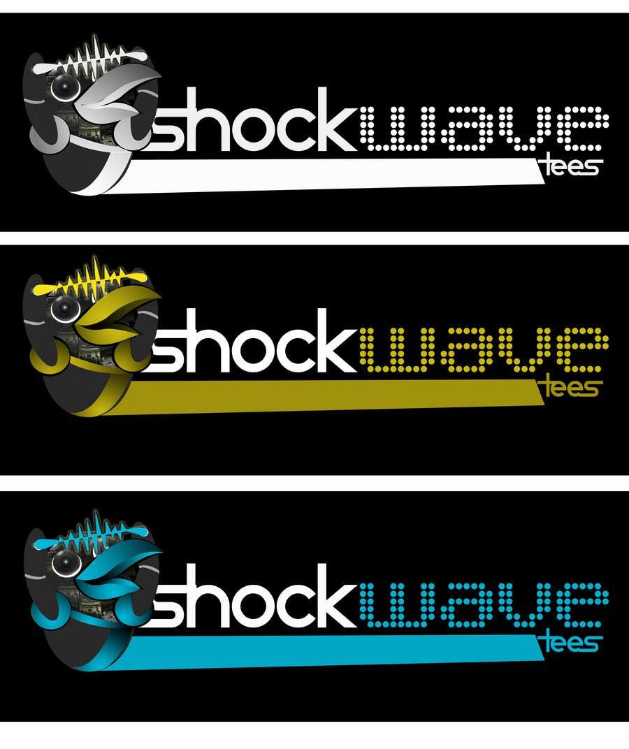 Inscrição nº                                         88                                      do Concurso para                                         Logo Design for T-Shirt Company.  ShockWave Tees