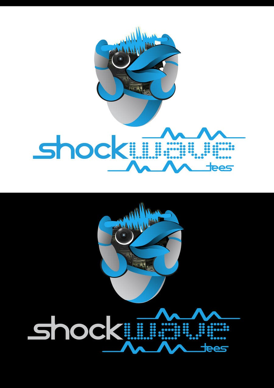 #140 for Logo Design for T-Shirt Company.  ShockWave Tees by xcerlow