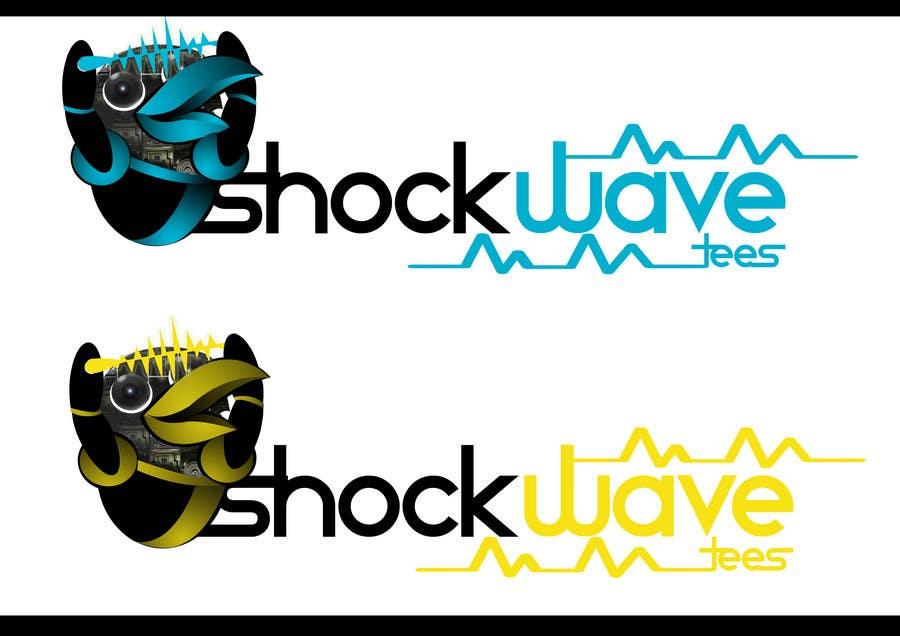Inscrição nº 114 do Concurso para Logo Design for T-Shirt Company.  ShockWave Tees
