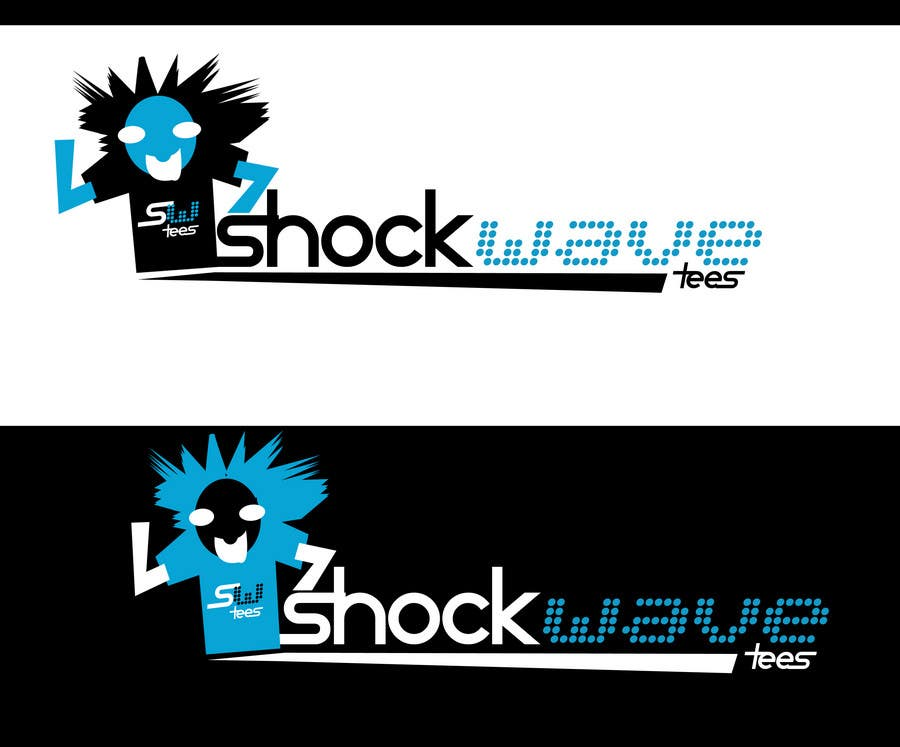 Inscrição nº 74 do Concurso para Logo Design for T-Shirt Company.  ShockWave Tees