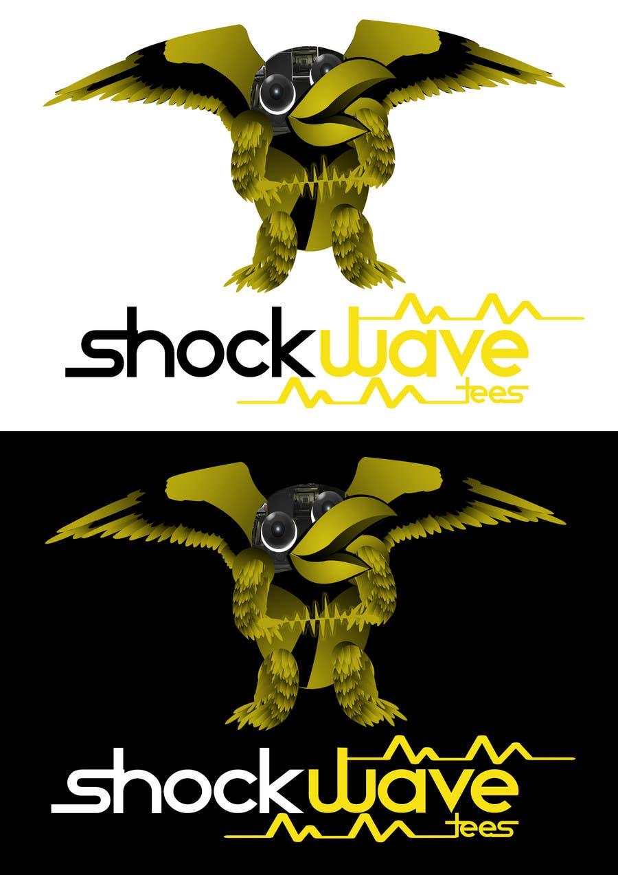 Penyertaan Peraduan #122 untuk Logo Design for T-Shirt Company.  ShockWave Tees