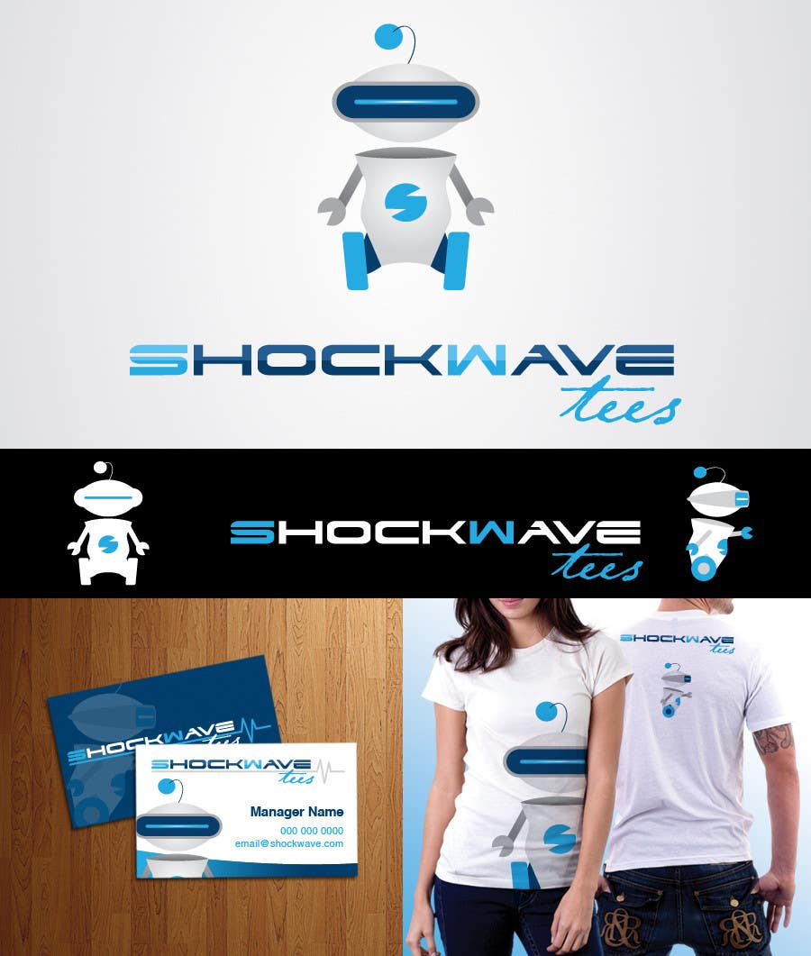 #121 for Logo Design for T-Shirt Company.  ShockWave Tees by AcidicSubstance