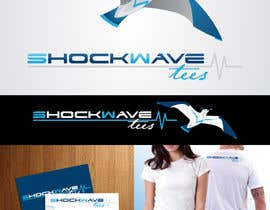 AcidicSubstance tarafından Logo Design for T-Shirt Company.  ShockWave Tees için no 120