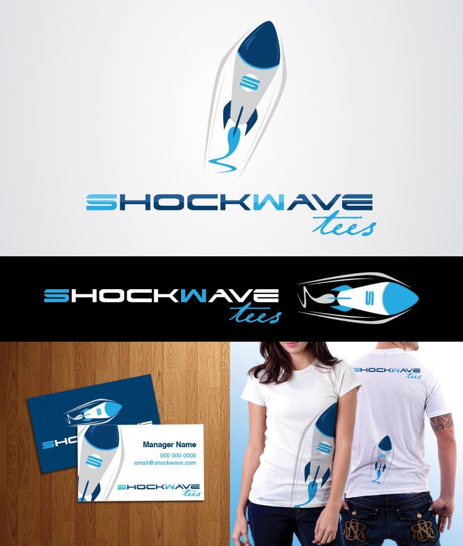 Inscrição nº                                         47                                      do Concurso para                                         Logo Design for T-Shirt Company.  ShockWave Tees