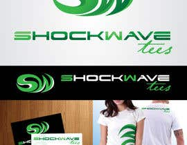 AcidicSubstance tarafından Logo Design for T-Shirt Company.  ShockWave Tees için no 148