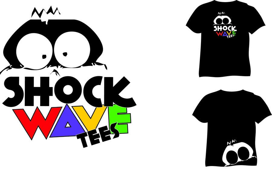 Inscrição nº 83 do Concurso para Logo Design for T-Shirt Company.  ShockWave Tees
