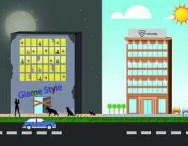 overtservices tarafından Illustrate a building with two different scenarios.... Unoccupied & Occupied için no 6