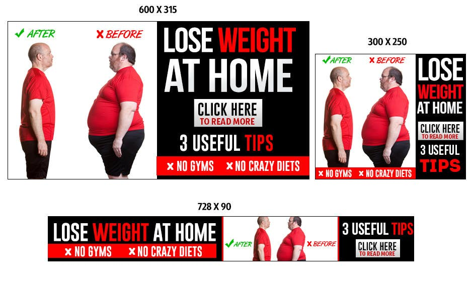 Entry 62 By Mayerdesigns For Design Banners For A Weight Loss