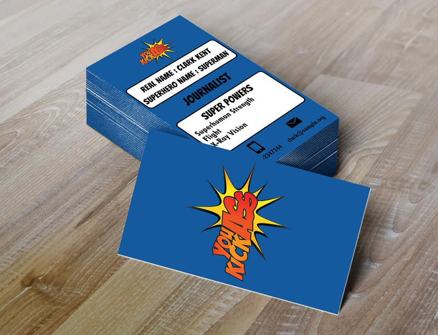 Entry #16 by mugshots for Design some Business Cards for Superheroes ...