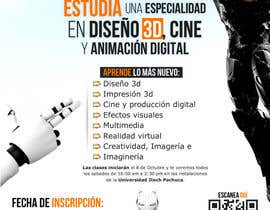 corradoenlaweb tarafından Diseña un flyer para el posgrado en diseño 3d, cine y animación digital için no 18