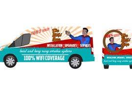 SRVIGNESHWARAN tarafından In need of a vintage van wrap design for a wifi service company için no 2