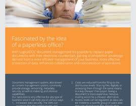 #6 for A4 Brochure design for Marketing af barinix