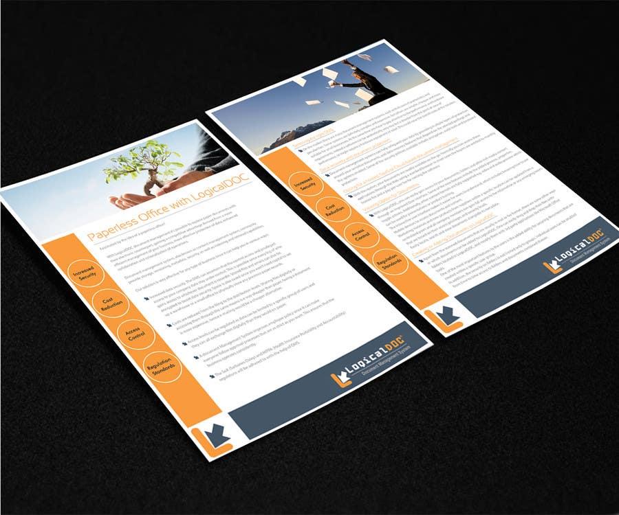Konkurrenceindlæg #                                        17                                      for                                         A4 Brochure design for Marketing