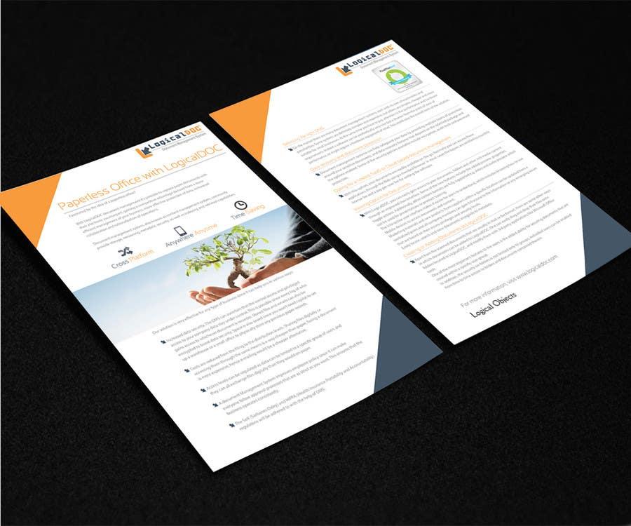 Konkurrenceindlæg #                                        18                                      for                                         A4 Brochure design for Marketing