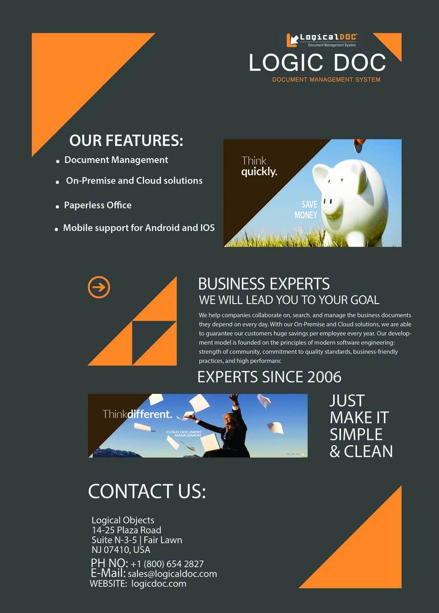Konkurrenceindlæg #                                        1                                      for                                         A4 Brochure design for Marketing