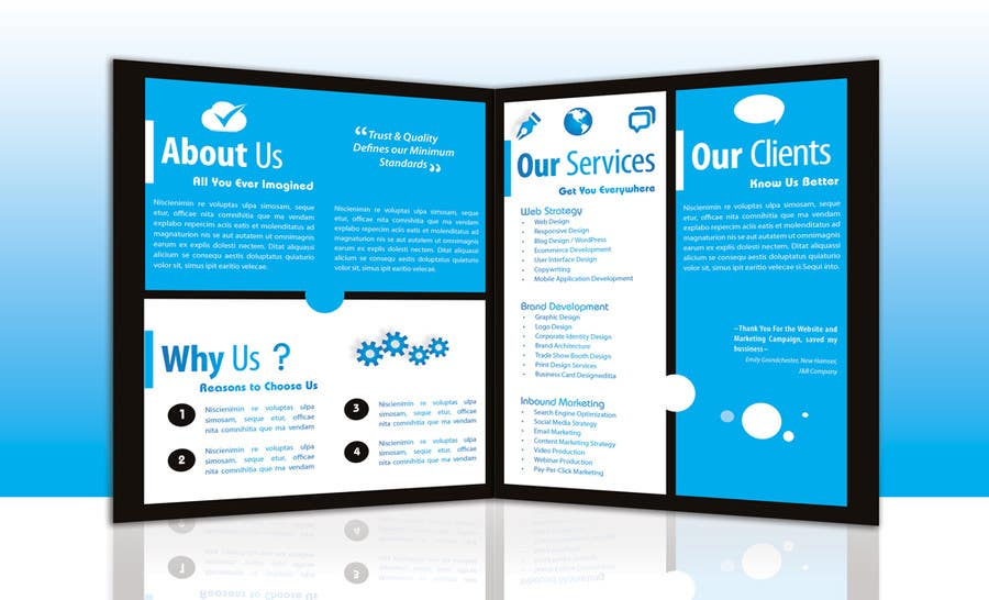 entry 12 by marcia2 for design a brochure for a digital marketing