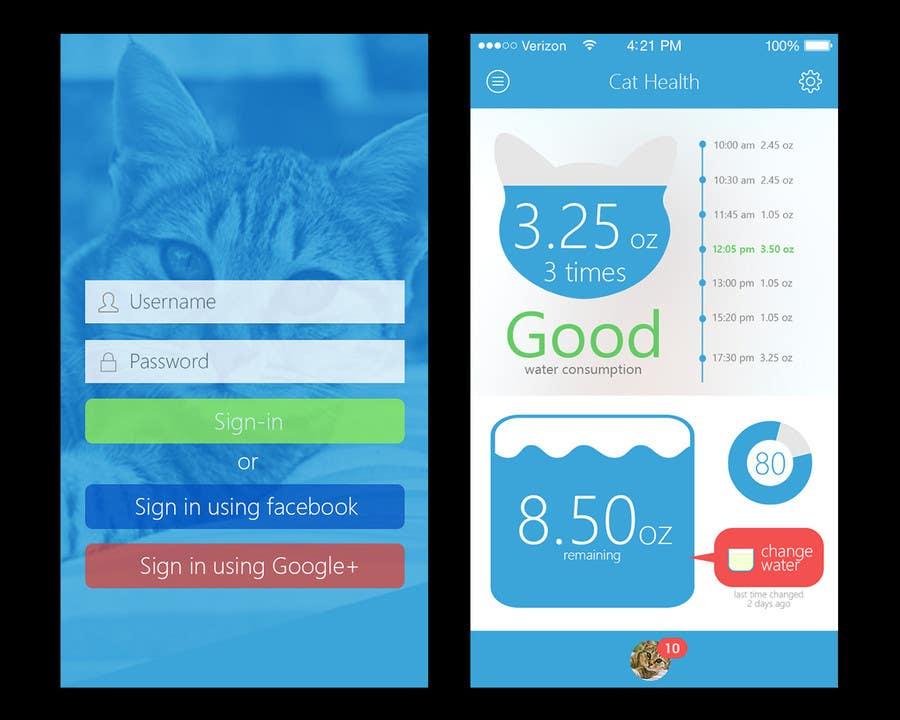 entry 11 by mrhankey for design an app mockup for pet health