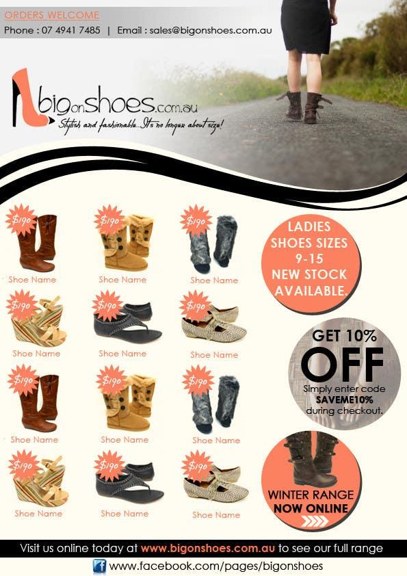 Inscrição nº                                         49                                      do Concurso para                                         Brochure Design for Big On Shoes- Online Shoe Retailer